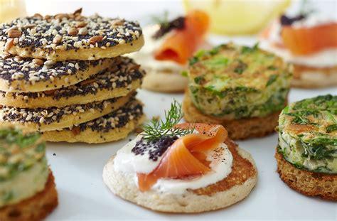 posh canape recipes gluten free blinis with smoked salmon tesco food
