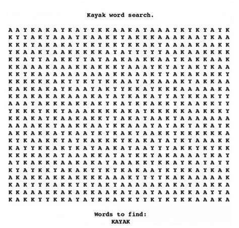Can You Find 'kayak'?