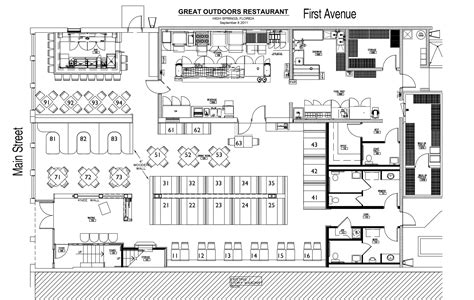 plan cuisine restaurant fast food restaurant floor plan design