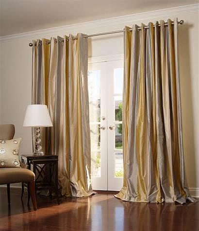 Drapes Silk Grommets Pottery Barn Custom Curtains