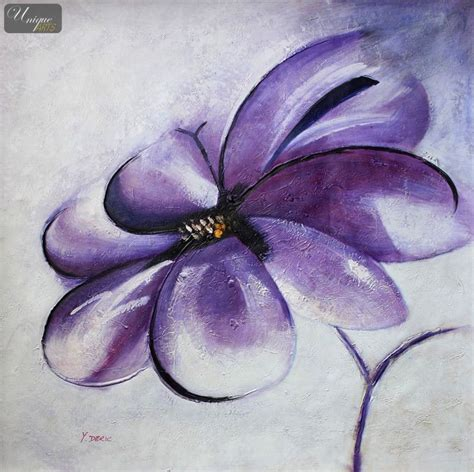 modern abstract blue flower 36x36 quot painting on canvas reproduction paintings by size