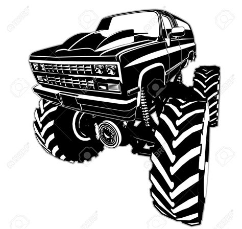 jeep off road silhouette monster truck vector clipart 86