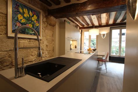 cuisine salon salle à manger architecture intérieur loft monge