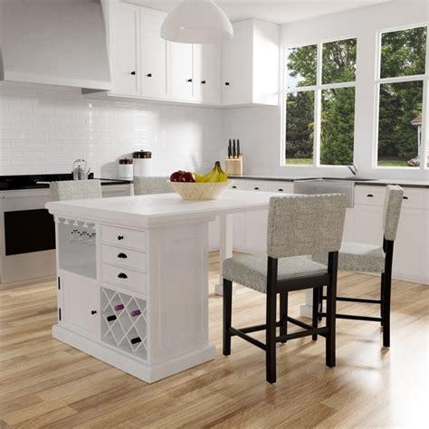 shop tia modern antique white counter height kitchen island table  foa  sale