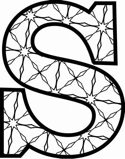 Letters Printable Alphabet Letter Coloring Stencils Templates
