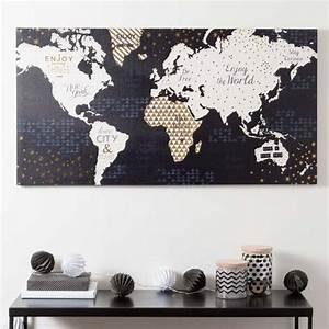17 meilleures idees a propos de toiles des cartes du monde for Maison du monde toile