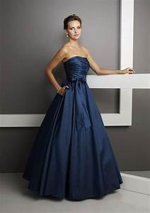 Free Shipping Latest Gorgeous Princess Strapless Navy Blue ...