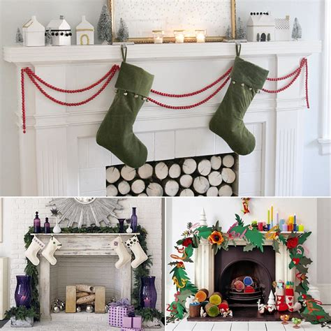 decorate  mantel  christmas popsugar home
