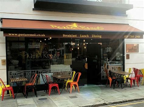 deans  installed retractable  commercial awning  pasta remoli  finsbury park deans