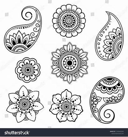 Henna Flower Mehndi Pattern Drawing Tattoo Indian