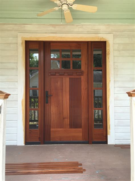 mission style front door craftsman style front doors with sidelight find out