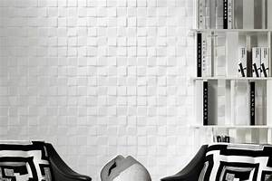 Papier Peint Blanc Relief : papier peint tendance vos murs prennent du relief idkrea rennes ~ Melissatoandfro.com Idées de Décoration
