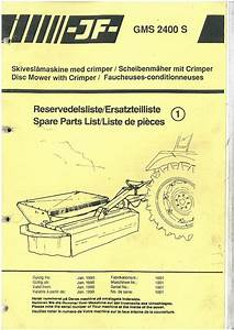 Jf Disc Mower Gms2400s Parts Manual