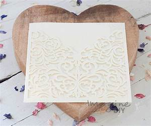 lucy cream invitation imagine diy With laser cut wallet wedding invitations