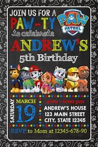 1st birthday invitations printable divertida invitación para fiesta de paw patrol