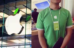 Apple Store logos and employee uniforms go green for Earth Day