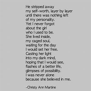 The Girl Who I Used to Be poem - Christy Ann Martine ...