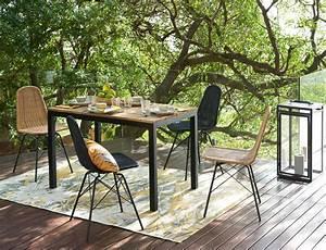 Chaise De Jardin En Resine : chaise de jardin en r sine tress e imitation rotin et ~ Farleysfitness.com Idées de Décoration