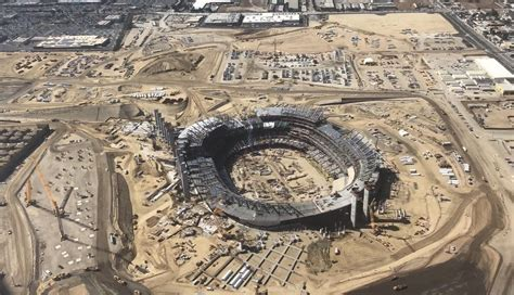 los angeles stadium  hollywood park  constraction