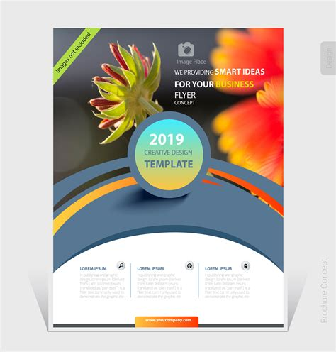 abstract business brochure template  cover design