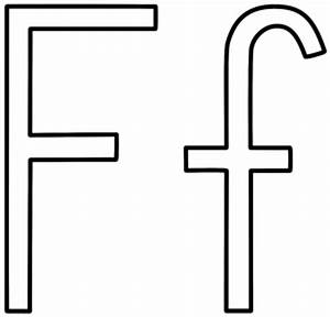 Letter F Coloring Pages - Preschool and Kindergarten