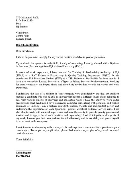 cover letter for application best photos of cover letter for any position