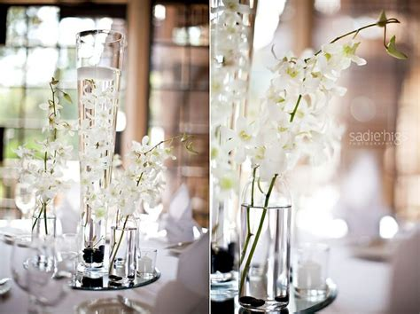 Orchids One Water Other Two Small Vases Wedding