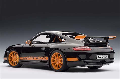 orange porsche 911 gt3 rs autoart die cast model porsche 997 gt3 rs black with