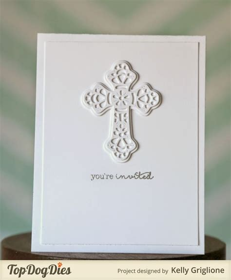 communion invitations layer detailed cross die cuts