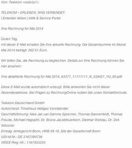 Falsche Rechnung : angebliche telekom rechnungen ~ Themetempest.com Abrechnung
