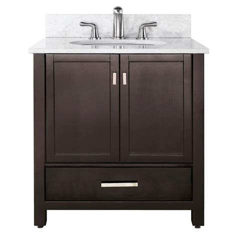 Home Depot Bathroom Vanities 36 Inches by Avanity Modero 36 Inch W Vanity With Marble Top In Carrara