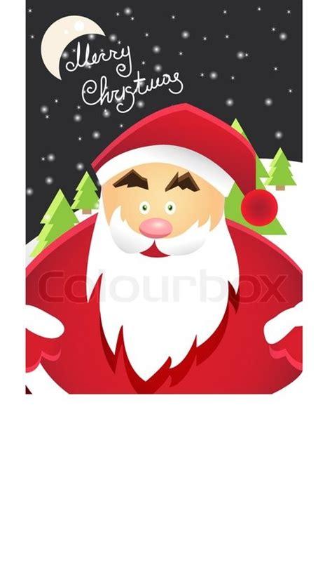 cartoon santa claus  merry christmas label  holiday