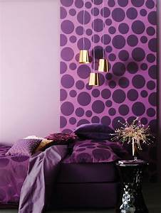 Awesome purple wall decor for bedrooms room decorating
