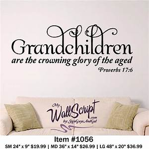 Grandchildren home wall decal picture bible verse