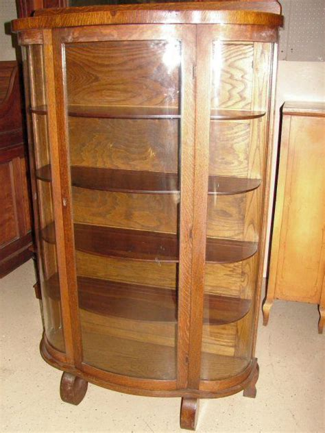 bow front curio cabinet antique oak bow front china curio cabinet walshmoor