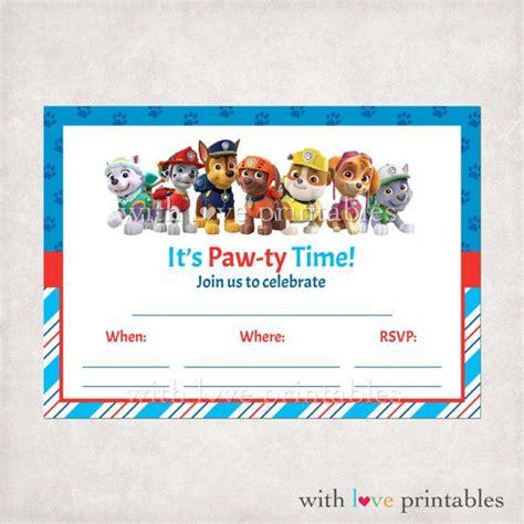 paw patrol invitation template free printable paw patrol fill in blank birthday invitations custom patrulha pata