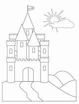 Castle Coloring Pages Cinderella Printable sketch template