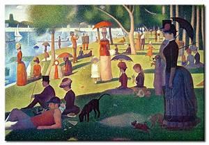 Quadro famoso Una domenica pomeriggio sull'isola della Grande Jatte Georges Seurat Quadri famosi
