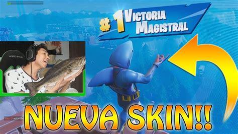 ganando  la nueva skin de tiburon fortnite youtube