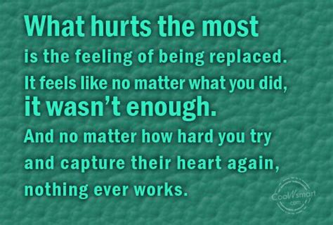 Feeling Replaced Quotes