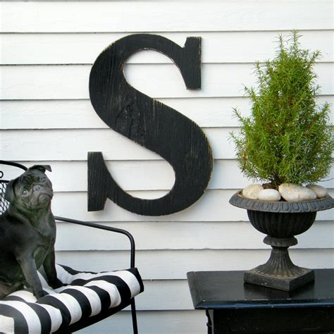 This listing is for the vintage aqua color other colors available are black, avocado green, chocolate brown, red, beach sand please enter the letter you need and the color at checkout. 24 Extra Large Letter Large Wood Letters Shabby by HavenAmerica