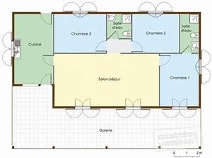 plan de maison type f4 With maison de 100m2 plan 1 constructeur de maison pas cher et pras de chez vous