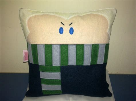 harry potter pillow handmade harry potter draco malfoy pillow by