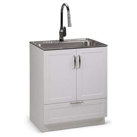 Utility Sink In Cabinet by Simpli Home Reed 28 In W X 19 In D In X 35 In H