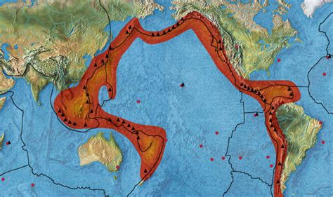 quakes shake pacific plate  ring  fire activity
