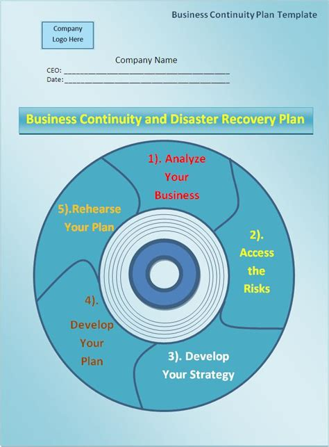 business continuity plan template  printable word