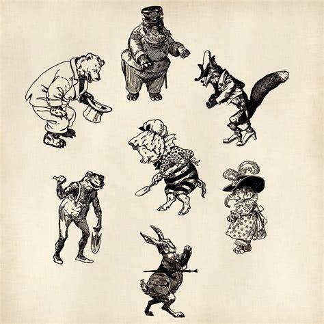 funny vintage animal drawings  victorian lady  deviantart