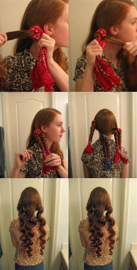 10 DIY No Heat Curls TUTORIALS Hair without heat Hair