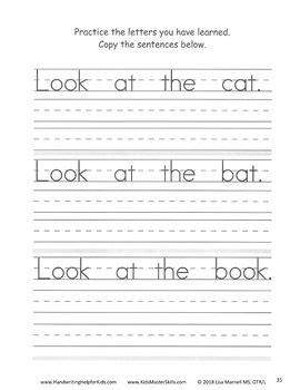 grade handwriting start sentences workbook