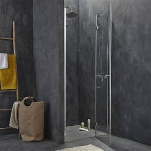 porte de douche pivotante 90 cm transparent open2 With leroy merlin joint porte douche